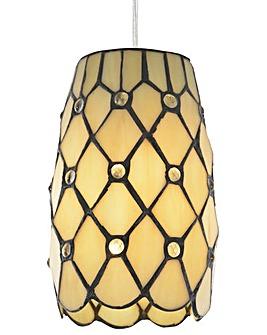 Tiffany Jewel Easy Fit Lamp Shade-Honey