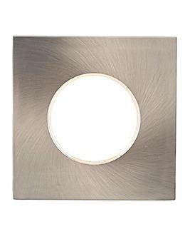 1 Lt Square Bathroom Spotlight-Sat Chrm