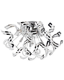 Twirl 6 Lt Semi Flush Ceiling Lt-Chrome