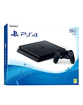 PS4 Slim 500GB Console Black