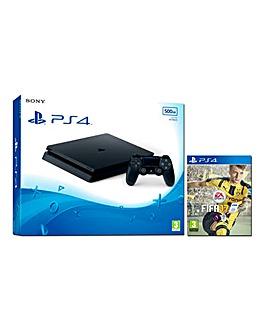 PS4 Slim 500GB Console & FIFA 17