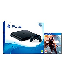 PS4 Slim 500GB Console & Battlefield 1