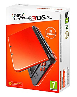 Nintendo 3DS XL Orange & Black Console