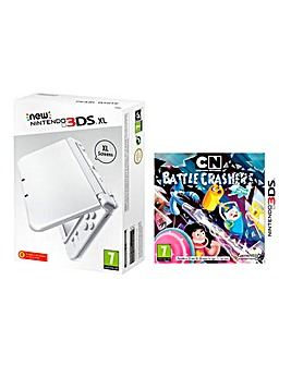 3DS XL Pearl White & Battle Crashers