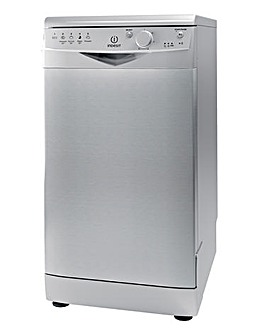 Indesit Slimline Dishwasher Silver