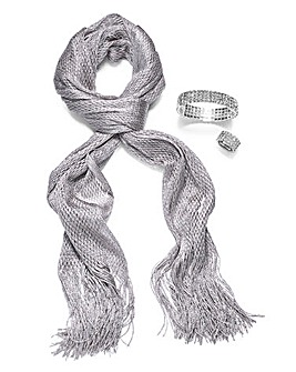 Diamante Ring & Bracelet With Free Scarf