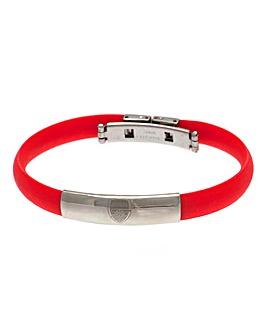 Football Crest Silicone Bracelet