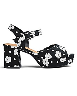 Lydia Block Heel Sandals E Fit