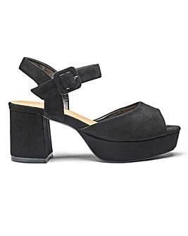 Sole Diva Lydia Block Heel Sandals E Fit