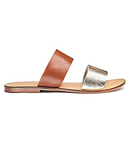 Sole Diva Leather Mules EEE Fit