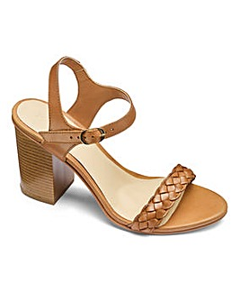 Sole Diva Leather Block Heel Sandal EFit