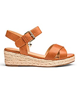 Sole Diva Wedge Espadrille EEE Fit