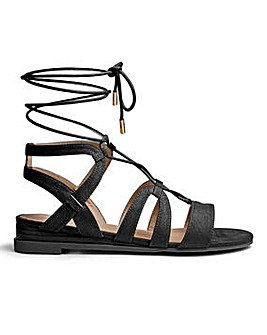 Sole Diva Maisy Ghillie Tie Wedge E Fit