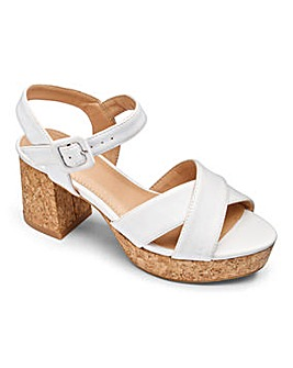 Sole Diva Cork Block Heel Sandal EEE Fit