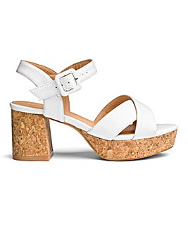 Sole Diva Cork Block Heel Sandal E Fit