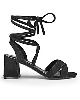 Sole Diva Wrap Detail Sandals E Fit