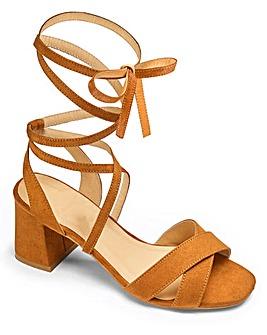 Sole Diva Wrap Detail Sandals E Fit