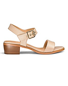 Sole Diva Lauren Block Sandals EEE Fit