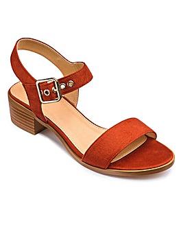 Sole Diva Block Sandals EEE Fit