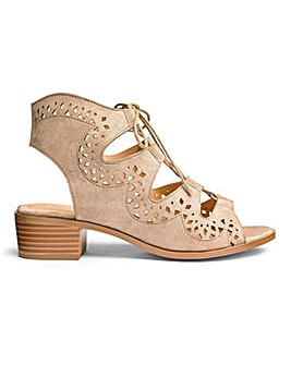 Sole Diva Ghillie Tie Sandals E Fit