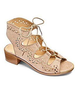 Sole Diva Ghillie Tie Sandals EEE Fit