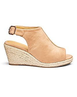 Sole Diva Peep Toe Wedge E Fit