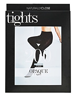 2 Pack 200 Denier Tights