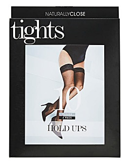 2 Pack 10 Denier Hold Ups