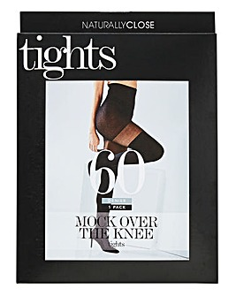 60 Denier Mock Over The Knee Tights