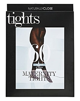 2 Pack 60 Denier Maternity Tights