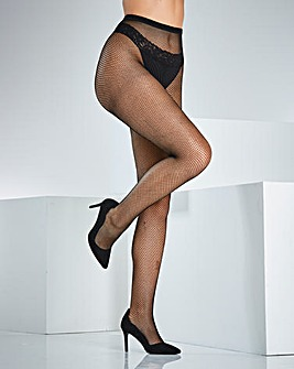 Naturally Close Black Fishnet Tights