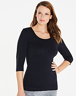 3/4 Smooth Knit Firm Slimming Top