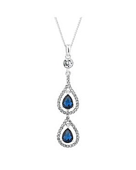 Jon Richard blue crystal drop necklace