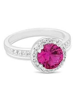Jon Richard Pink halo cocktail ring