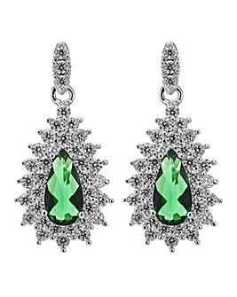 Jon Richard green teardrop earring