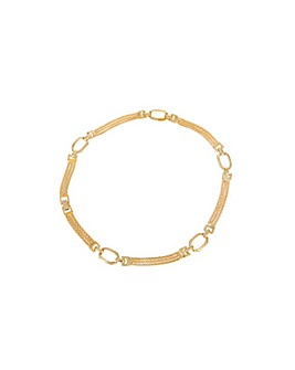 Gold Plated Ladies Link Necklace