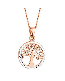 Simply Silver tree of life necklace