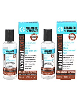 Natural World Moroccan Argan Oil BOGOF