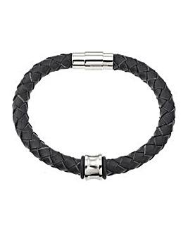 Black Concave Bead Bracelet
