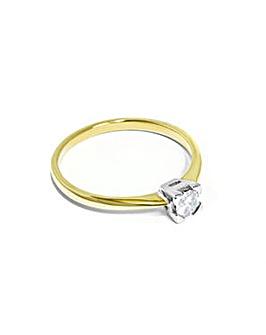 9CT Ladies Yellow Gold Diamond Ring