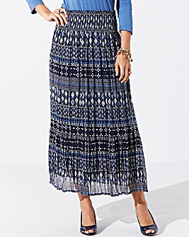 Nightingales Printed Tiered Skirt