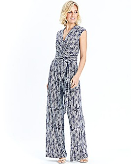 Nightingales Printed Jersey Jumpsuit