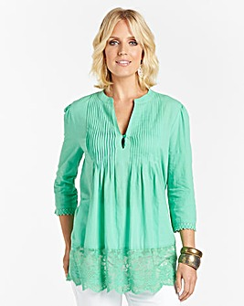 Nightingales Blouse with Lace Hem