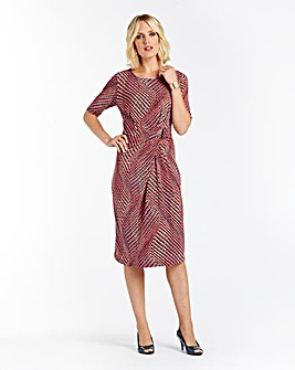 Nightingales Printed Jersey Dress L41in