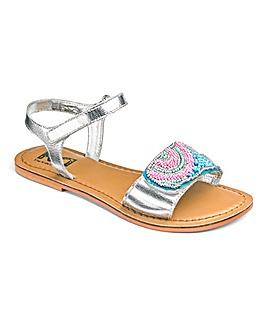 TKD Girls Beaded Sandals