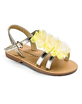 Chatterbox Girls Flower Trim Sandals