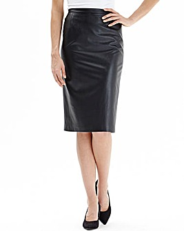 Nightingales PU Pencil Skirt