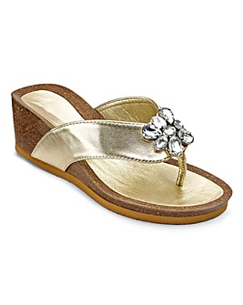Cushion Walk Jewel Footbed Wedges EEE