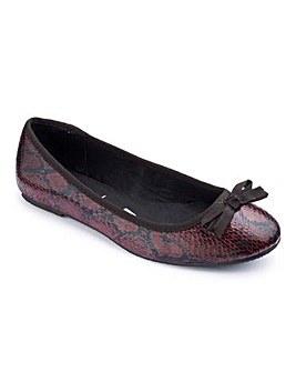 Simply Be Snake Print Pumps E Fit