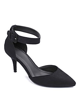 Sole Diva Ankle Strap Court Shoe EEE Fit